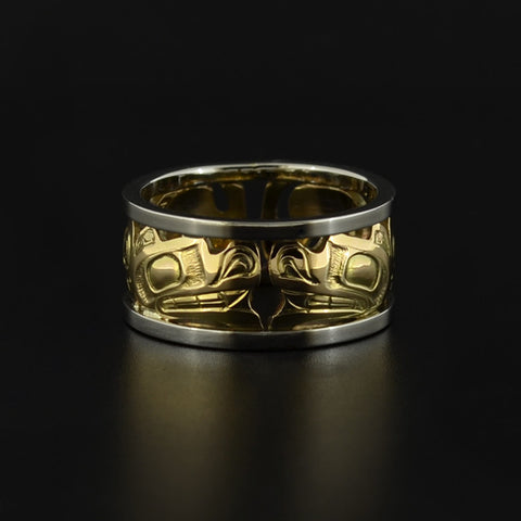 Wolves - 14k Gold Ring