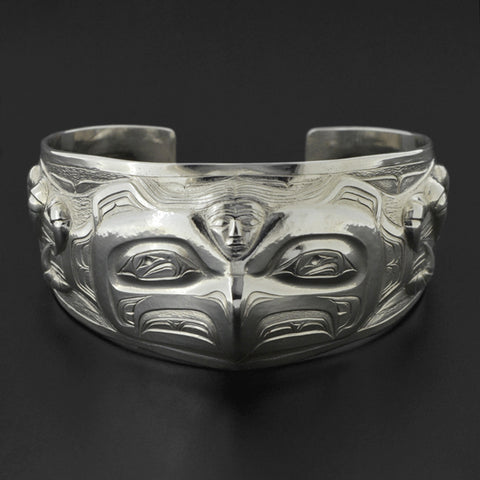 The Cycle of Life - Repoussé Silver Bracelet