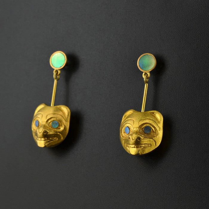 Bears - 22k Gold Earrings