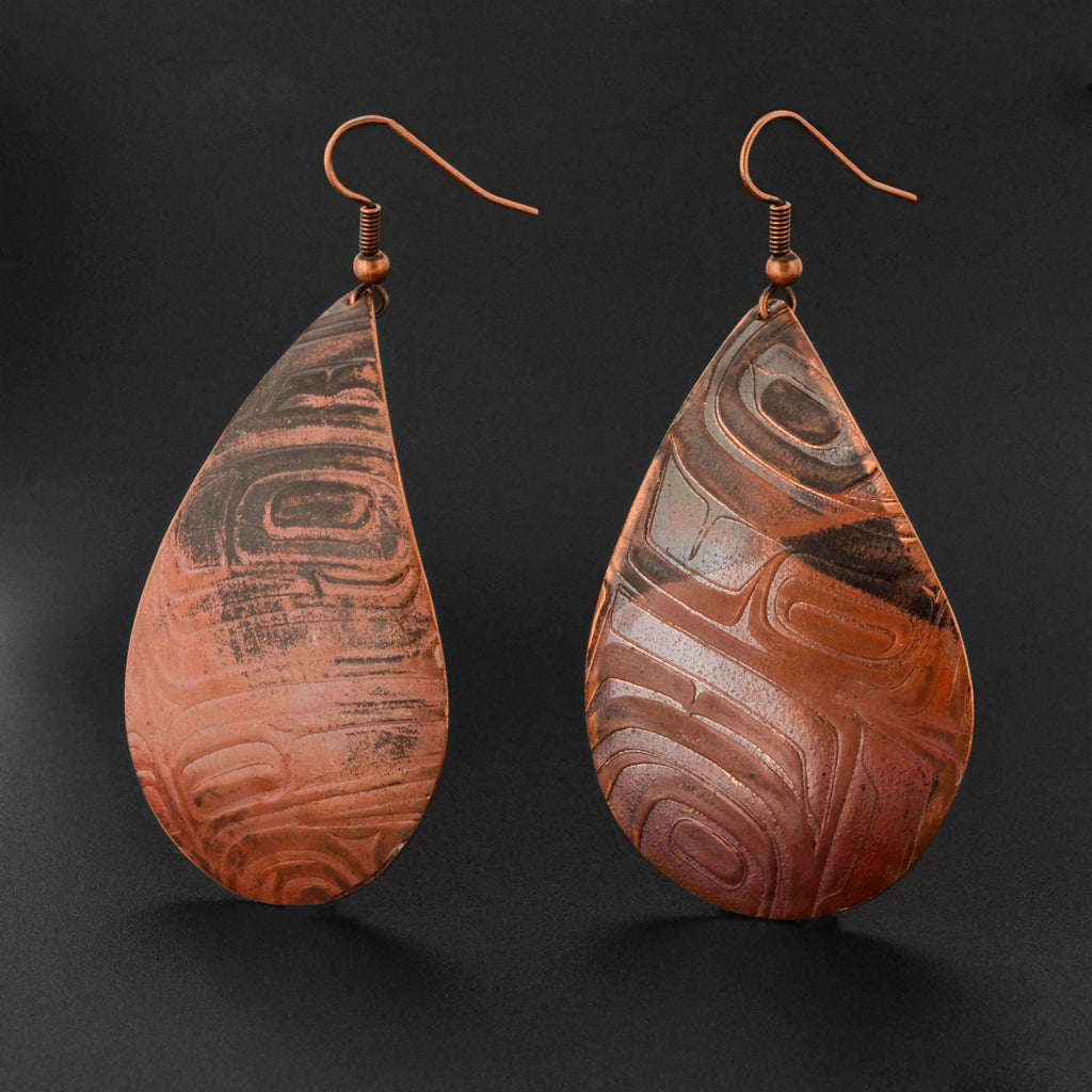 Abstract - Copper Earrings