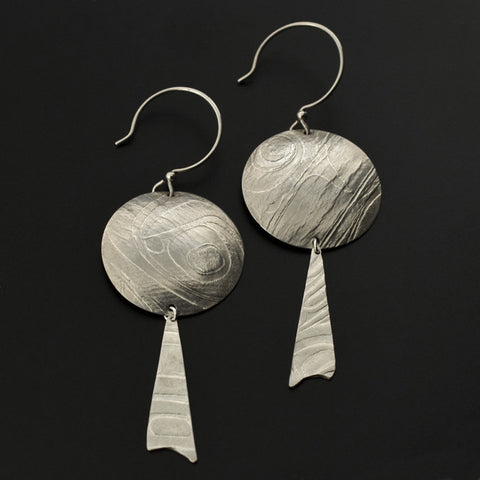 Drum - Silver Earrings