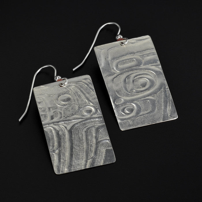 Tall Box - Silver Earrings