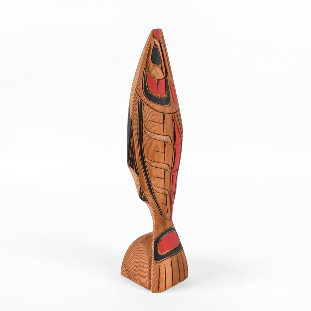 Salmon - Red Cedar Sculpture