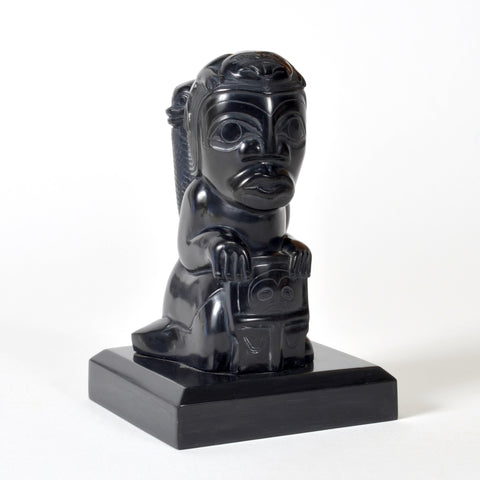 Volcano Woman - Argillite Sculpture
