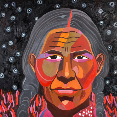 Star Nations Woman - Oil on Canvas