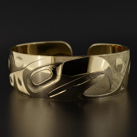 Eagle and Whale - 14k Gold Bracelet