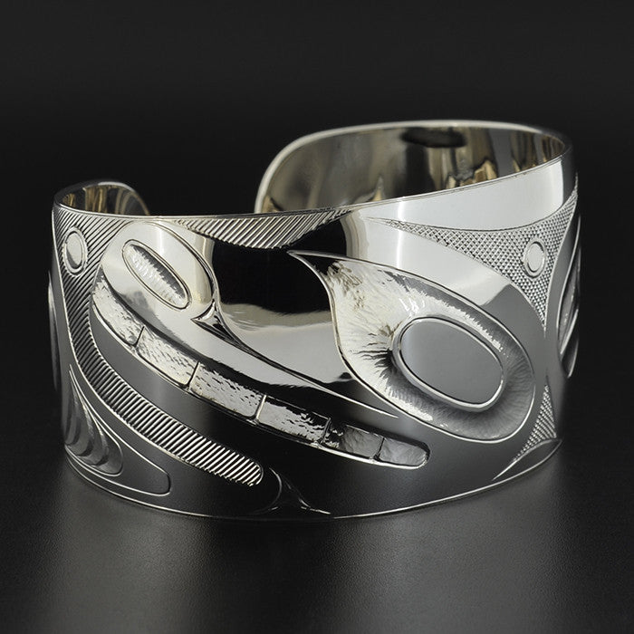 Killerwhale and Eagle - Silver Bracelet
