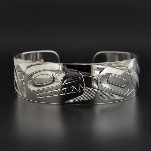 Killerwhale and Thunderbird - Silver Bracelet