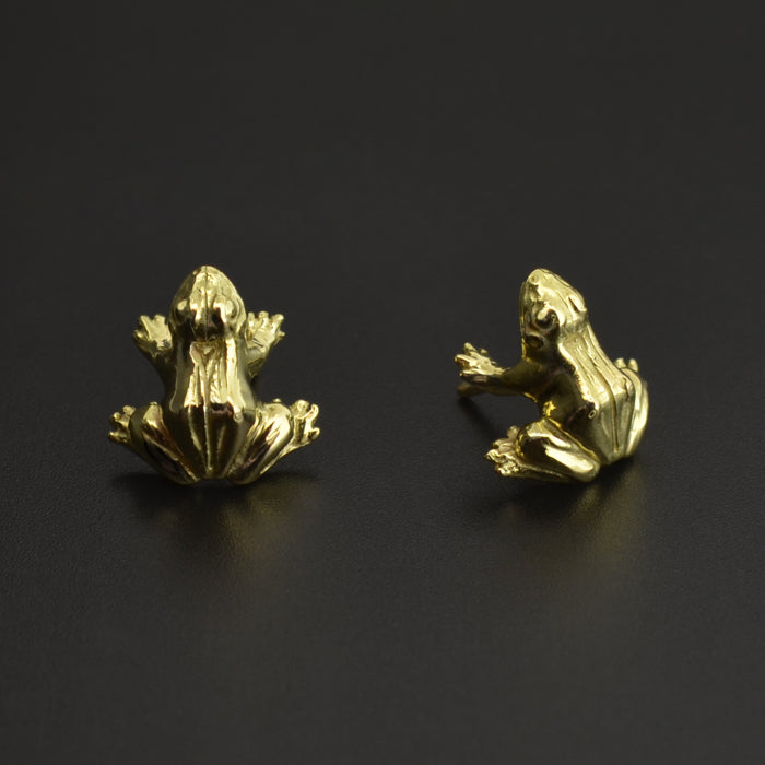 Frog - 18k Gold Earrings