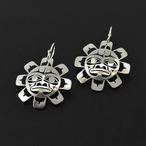 Sun - Silver Earrings