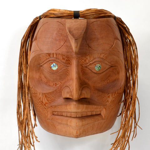 Guidance From Eagle Spirit - Red Cedar Mask