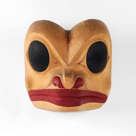 Frog - Yellow Cedar Mask