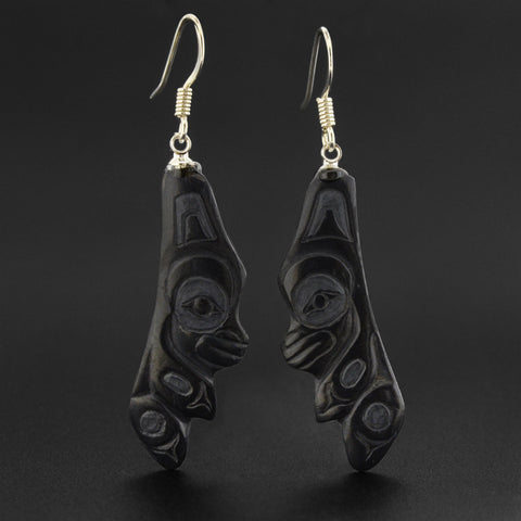 Bear - Argillite Earrings