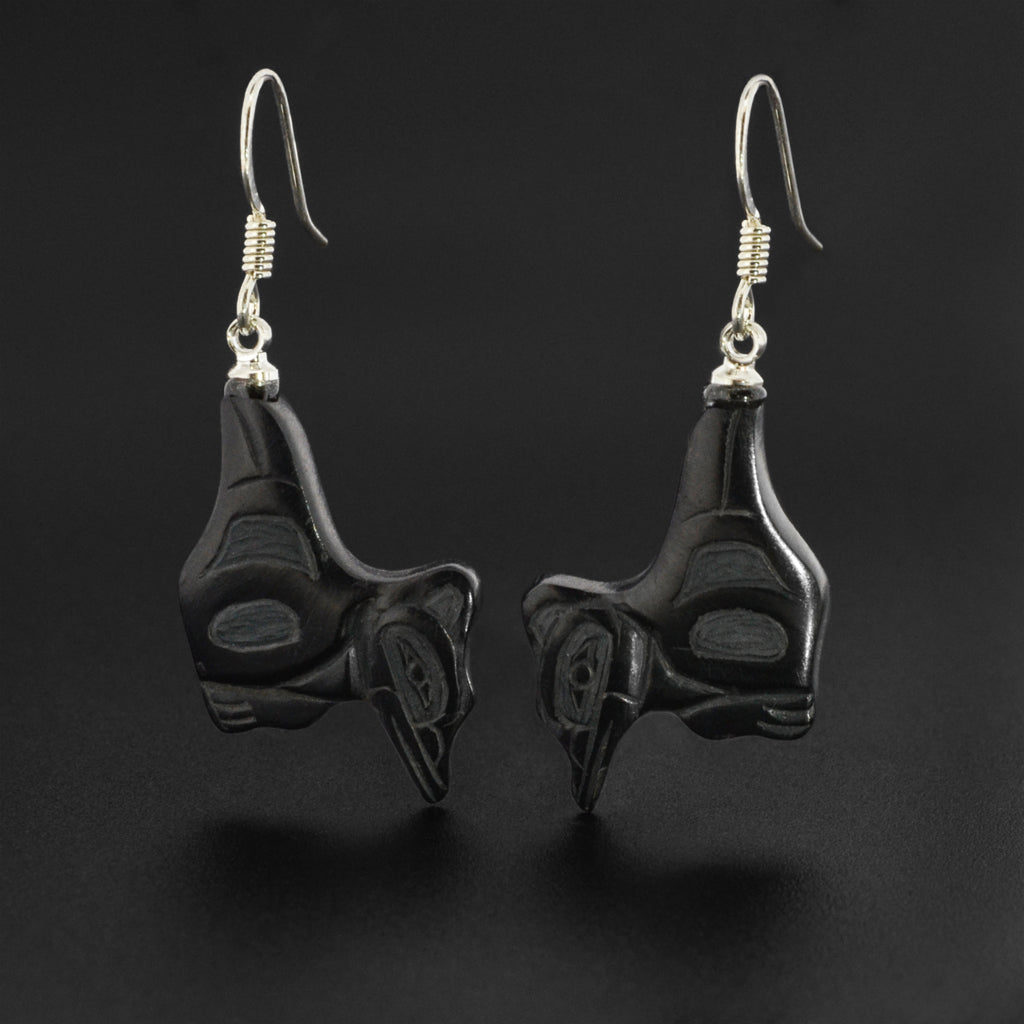 Hummingbirds - Argillite Earrings