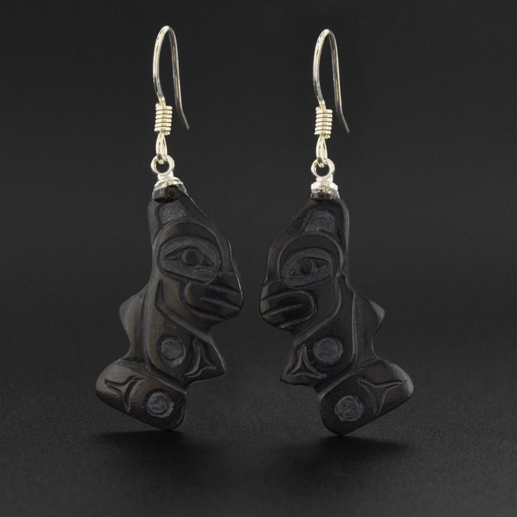 Killerwhale - Argillite Earrings