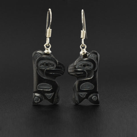 Ravens - Argillite Earrings