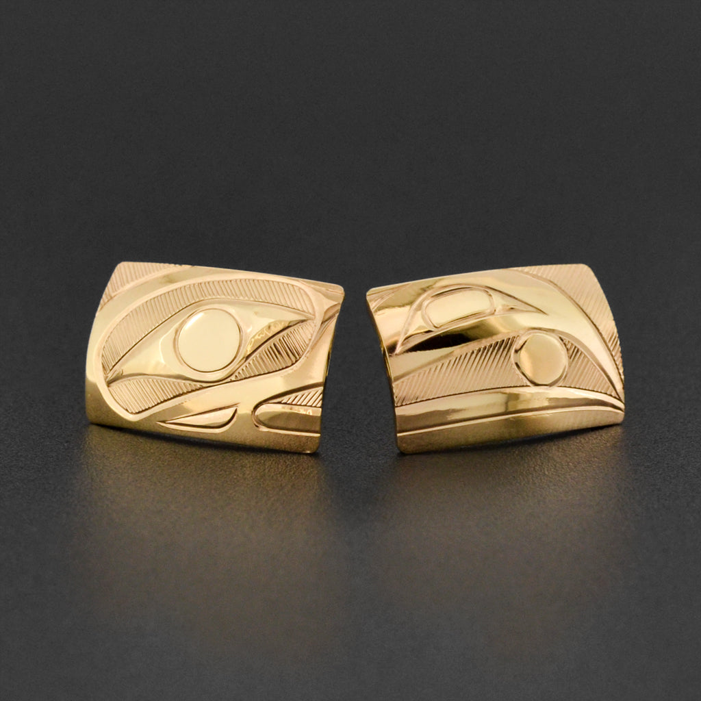 Raven - 14k Gold Stud Earrings