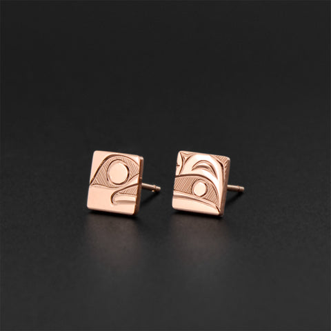 Raven - 14k Rose Gold Stud Earrings
