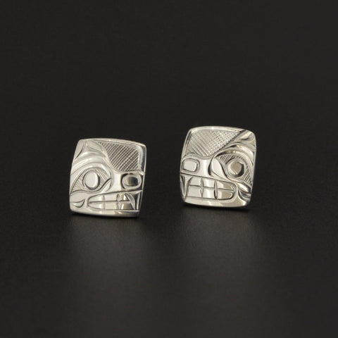 Bears - Silver Stud Earrings