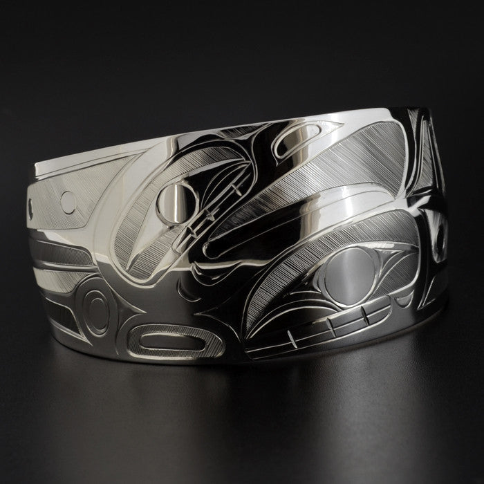 Eagle and Killerwhale - Silver Bracelet