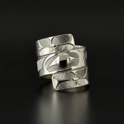 Hummingbird - Silver Wrap Ring