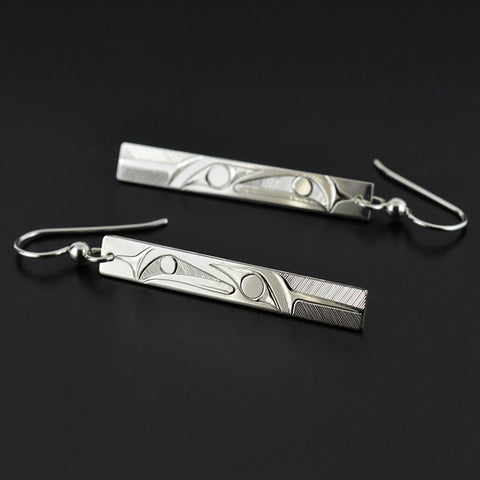 Raven and the Light - Silver Earrings