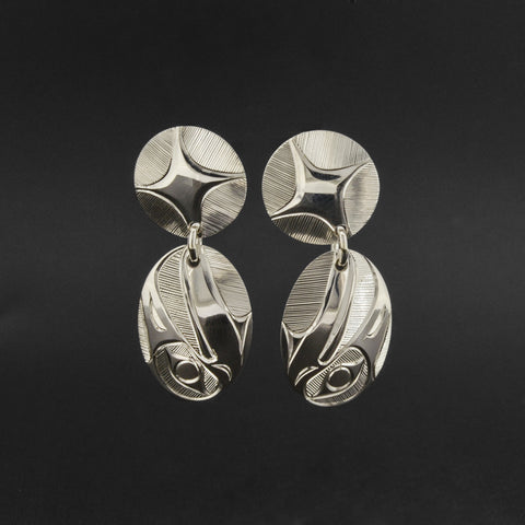 Raven and Light - Silver Stud Earrings