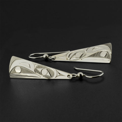 Raven and Light - Silver Earrings