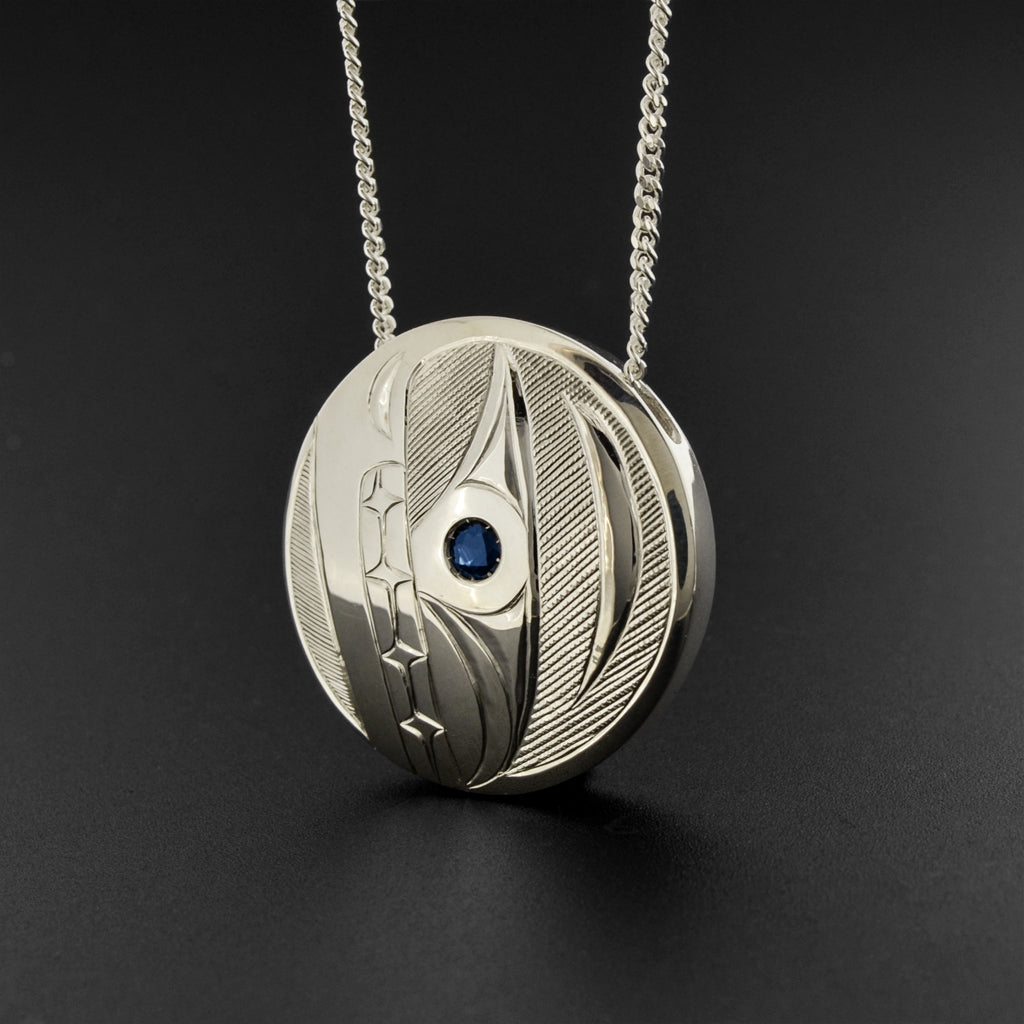 Killerwhale - Silver Pendant with Sapphire