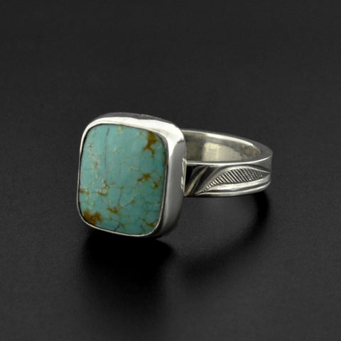 Eagles - Silver Ring with Turquoise