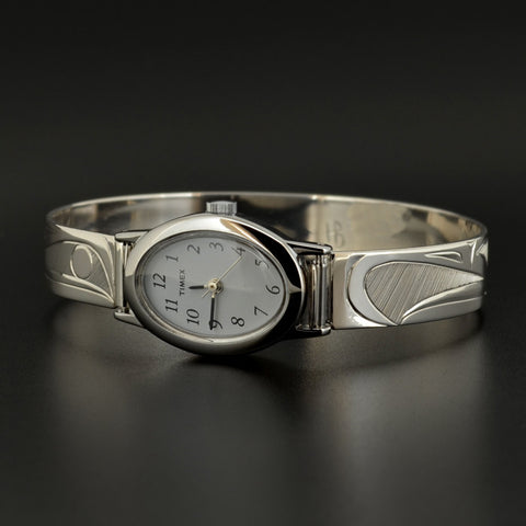 Raven and Eagle - Silver Watch