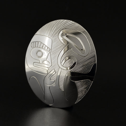 Birth of the Ovoid - Silver Pendant