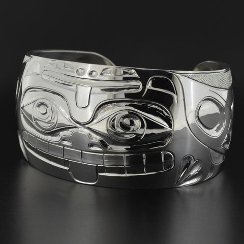 Bear and Frog - Silver Bracelet