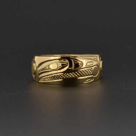 Raven and the Light - 14k Gold Ring