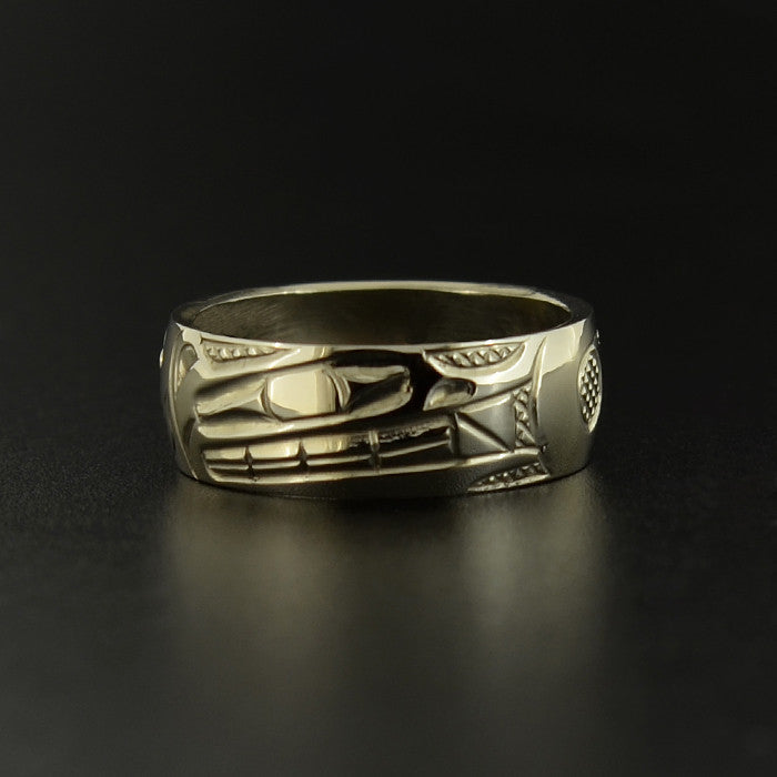 Wolf - 14k White Gold Ring