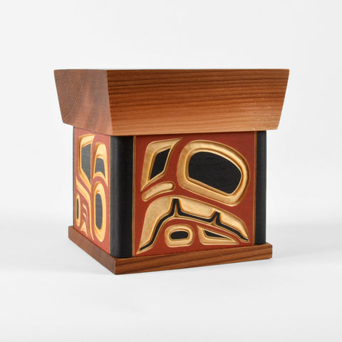 Raven - Carved Cedar Bentwood Box