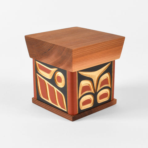 Salmon - Carved Cedar Bentwood Box