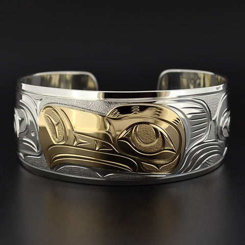Eagle - Silver Bracelet with 14k Gold