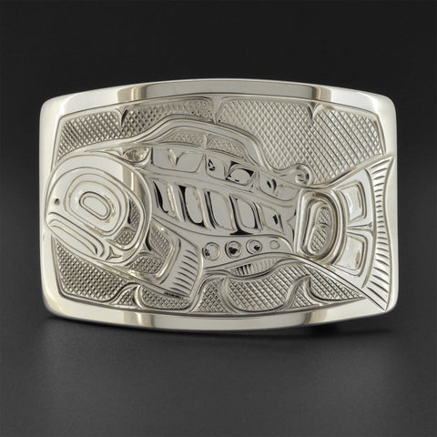 Salmon - Silver Belt Buckle