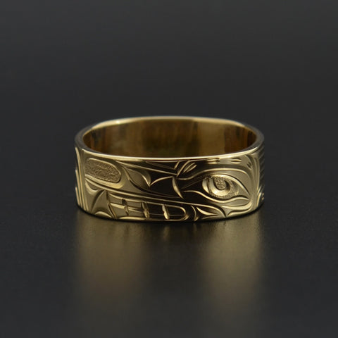 Wolf - 14k Gold Ring