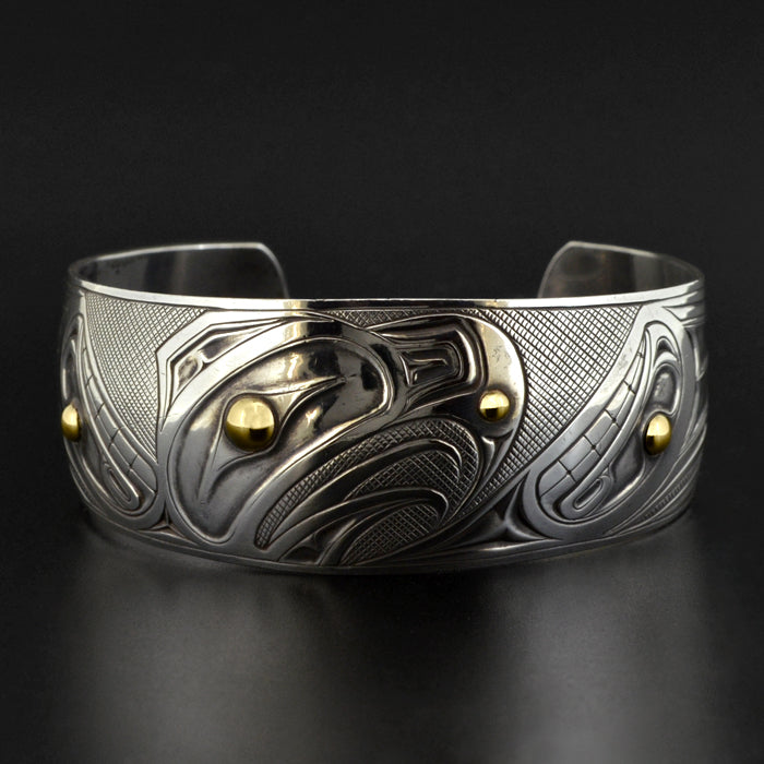 Eagle - Silver Bracelet with 18k Gold