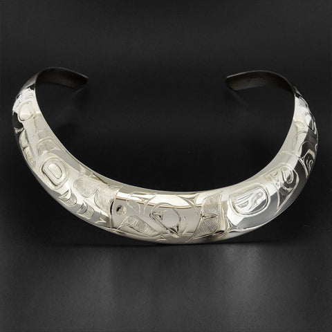 Eagle - Silver Choker Necklace