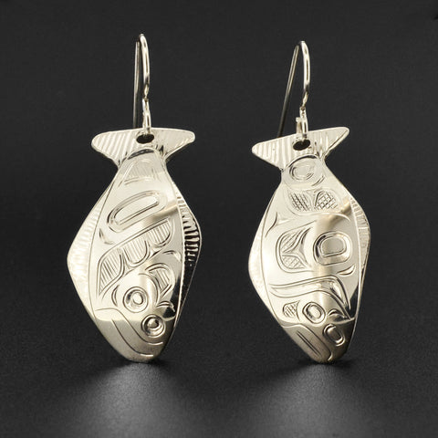 Halibut - Silver Earrings