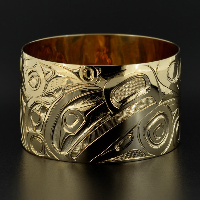 Eagle, Whale, Frog, Hummingbird, Salmon - 14k Gold Bangle