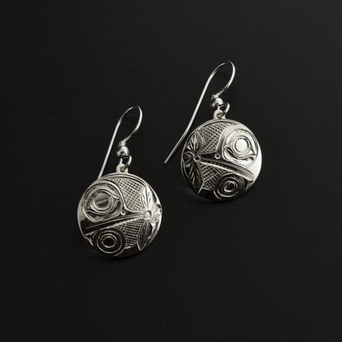 Hummingbirds - Silver Earrings