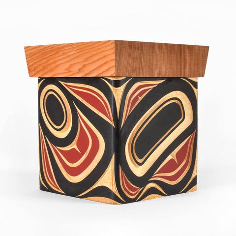 Abstract - Yellow Cedar Bentwood Box