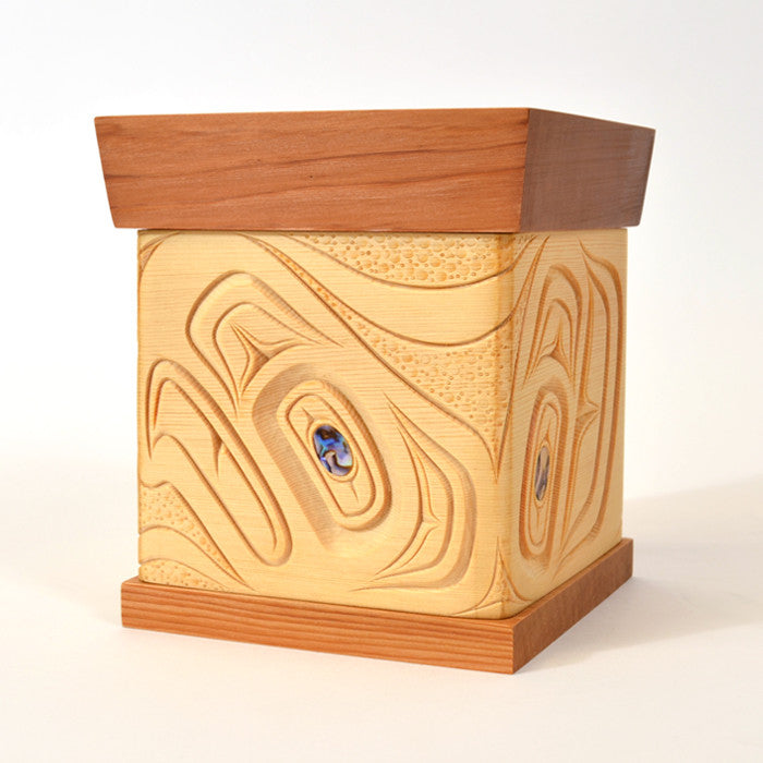 Eagle - Bentwood Box with Abalone Inlays