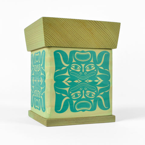Frogs - Yellow Cedar Bentwood Box