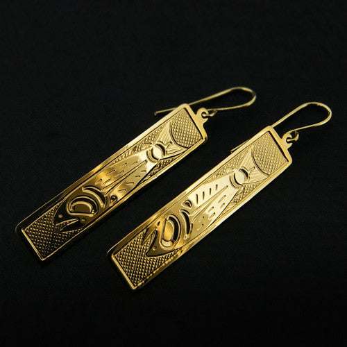 Salmon - 14k Gold Earrings