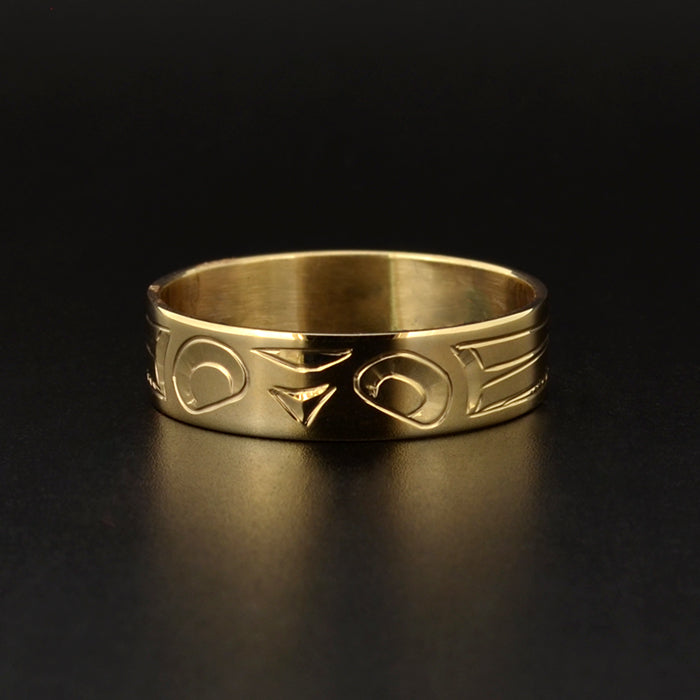 Owl - 14k Gold Ring